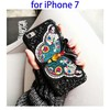 Embroidery Butterfly Pattern Glitter Powder Acrylic Protective Back Cover for iPhone 7