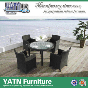 4 seasons garden furniture foshan outdoor furniture glass table chair ratan