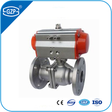 ANSI Flanged connection RF 150LB full bore body SS304 PTFE seat DC24V Floating Ball valve with ASCO positioner