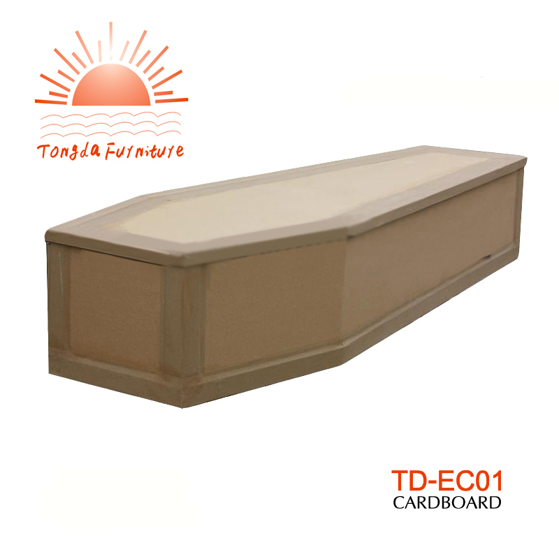 TD-EC01 Natural cardboard coffin with affordable price on sale