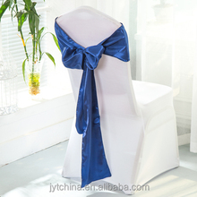 Hot selling spandex ruffled chair covers White organza chair sash for wedding