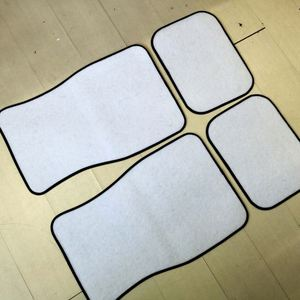 White Blank Car Mats for Dye Sublimation Use