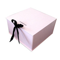New Design Custom Own Logo Wedding Favors Candy Cookie Chocolate Gift Box for Clothing Swimwear Dress with Ribbon Closure