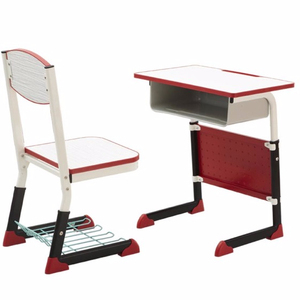 fashional Promotion Adjustable school furniture Single Student desk and chair/study table