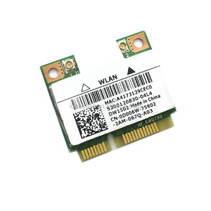 Wireless Adapter Card for Atheros AR9285 AR5B95 Half Size Mini PCI-e  300Mbps DW1502 802 11 b/g/n for Dell Ins Wireless Wifi Card
