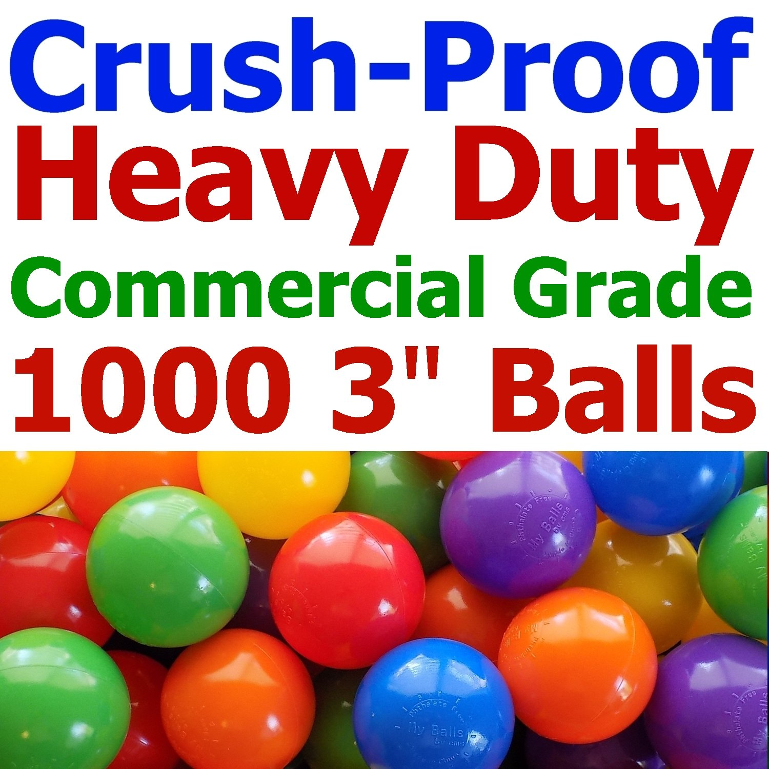 Buy 100 Heavy Duty Plastic Soft Air Filled Pit Balls For