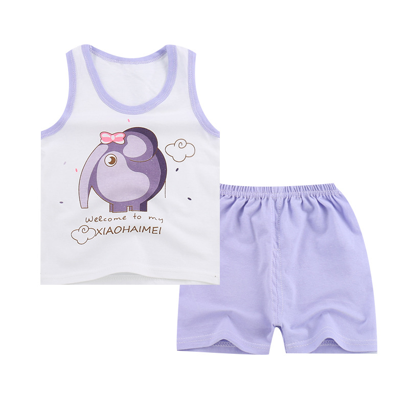 2019 子供子供服の綿の服新生児卸売衣服女の赤ちゃん 2 個セット