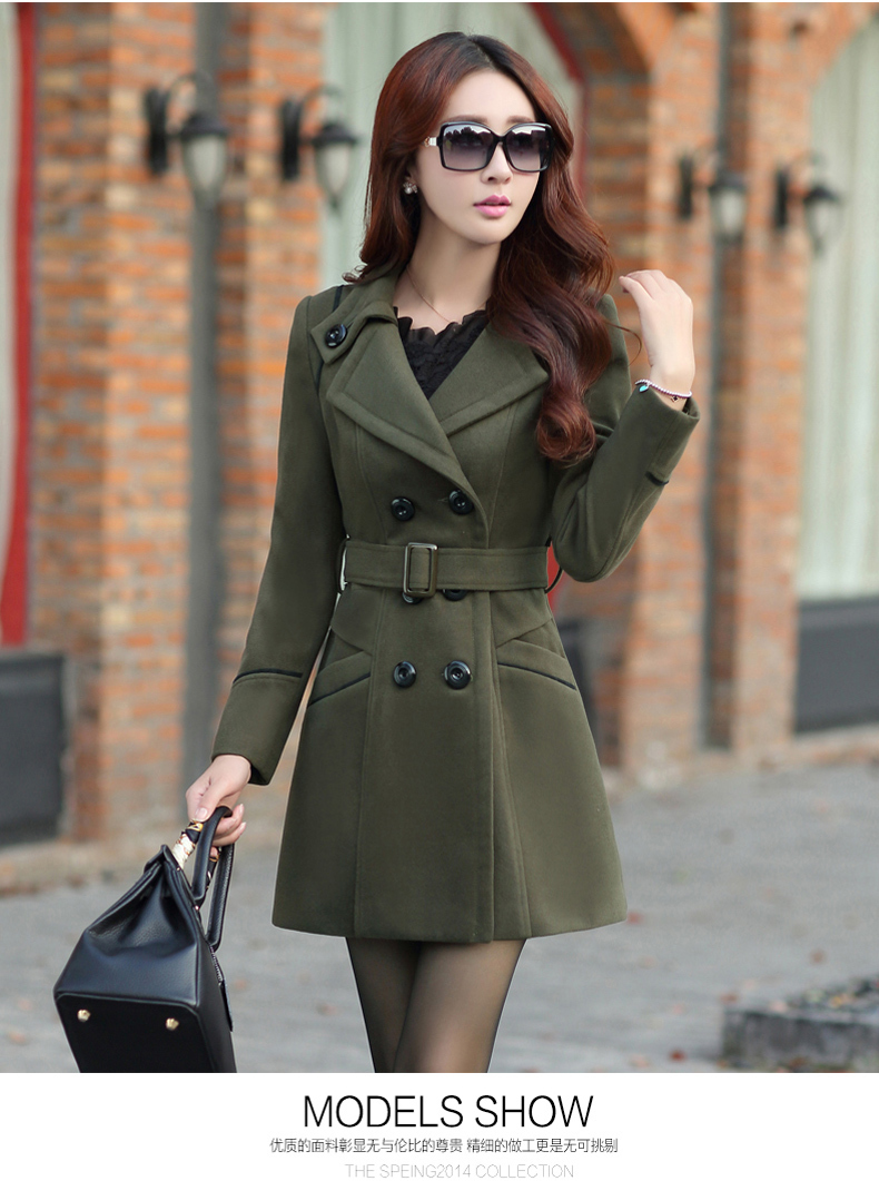 ee459e1ea49 Plus Size New Fall And Winter Clothes Woman Long Design Wool Coat Female  Fashion Slim Thin Long Blends Trench Overcoat XXXL