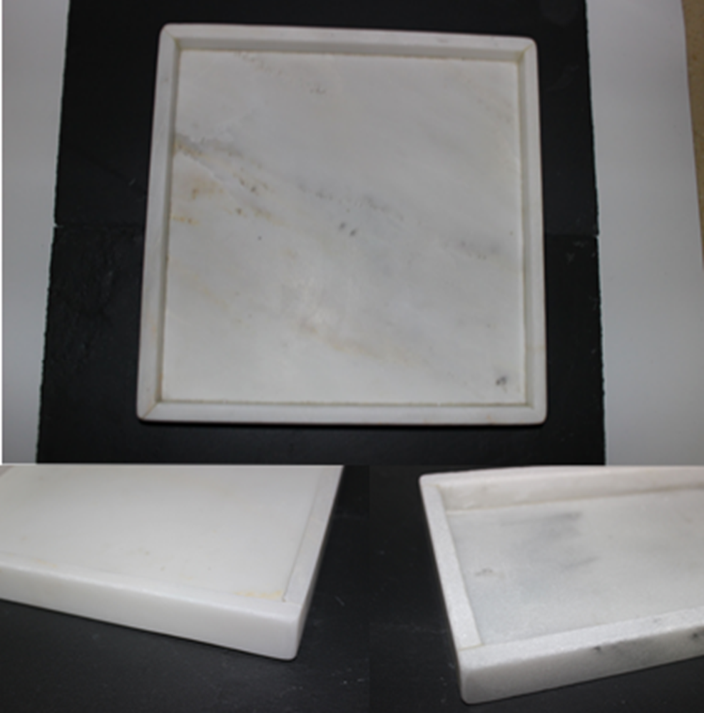 White Natural Stone Rectangle Wholesale Marble Serving Tray
