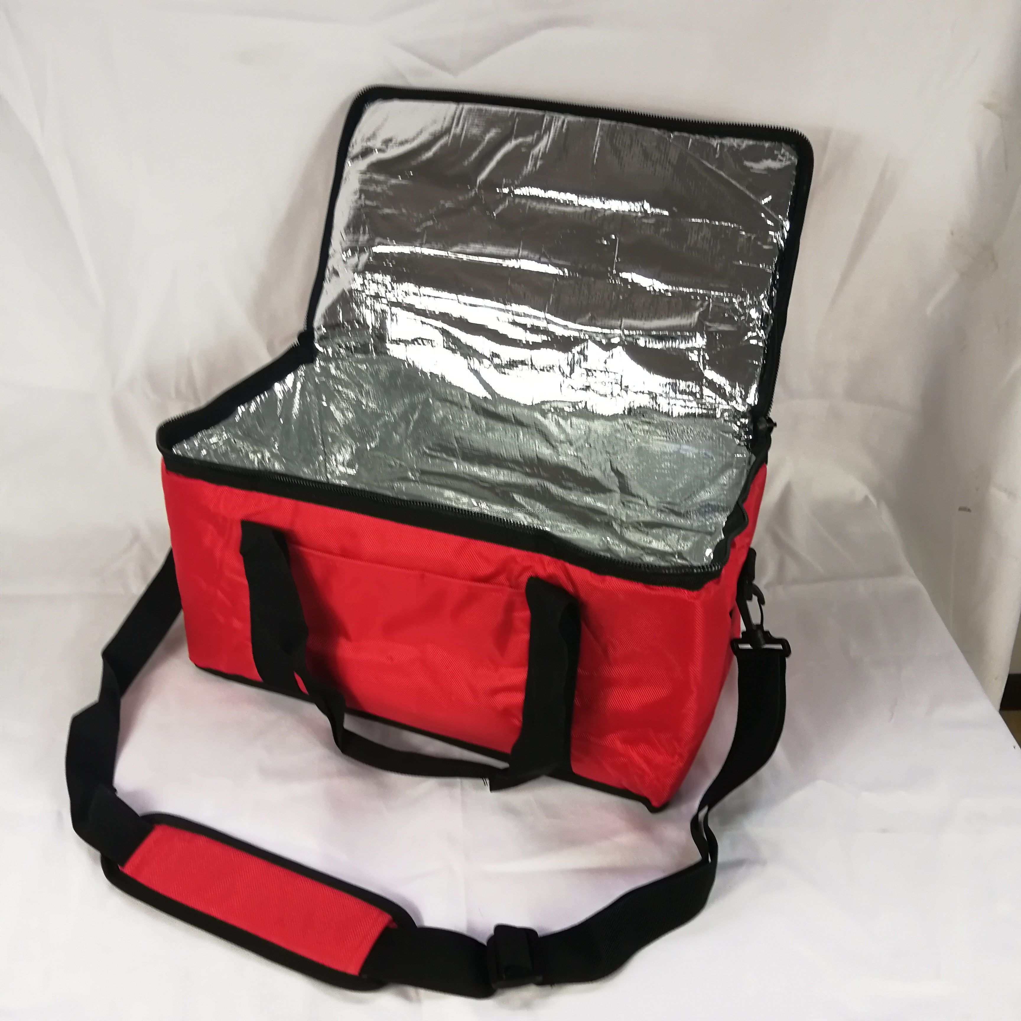 Custom Printed Large Thermal Pizza Delivery Bag With Divider