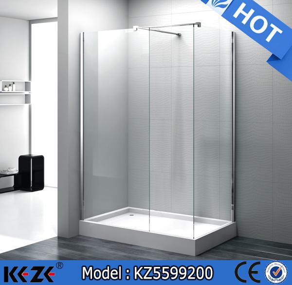 Rectangle Best Bath Shower Stalls Frameless Stand Alone Shower ...