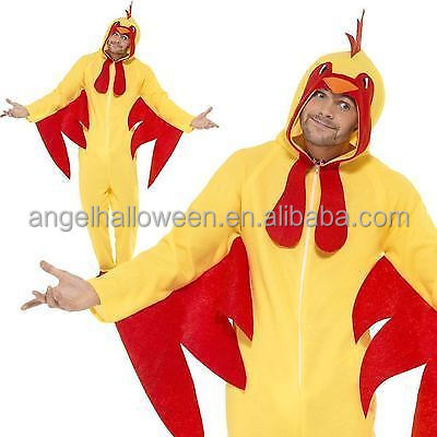 Adult chicken costumes farm bird unisex onesie fancy dress for pajama party AGM2502