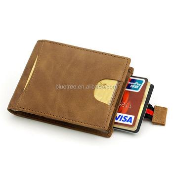 4ff67430ee Custom Rfid Blocking Full Grain Leather Slim Bifold Card Wallet Credit Card  Holder Mens Leather Wallet - Buy Card Wallet,Card Wallet,Mens Wallet ...