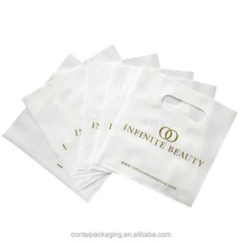 Por Buy Blanco Plástico Menor Troqueladas Compra bolsas De Mercancía Bolsas Bolsos Al La Compra EIYeW29DH