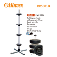 ATLIRACK RR5001B Tyre rack tyre skeleton with cover