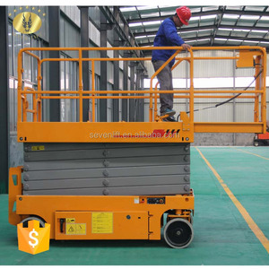 7LGTJZ Shandong SevenLift battery telescopic self propelled lifting ladder