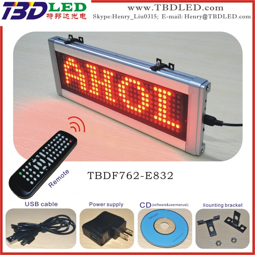 portable wireless led display with big remote for shop store