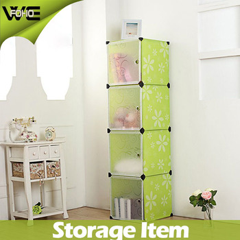 Cabinets Storage 4 Cube Small Portable Plastic Closet Systems