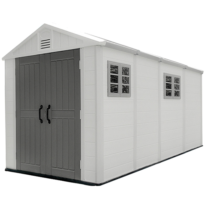 four- room big size HDPE Plastic outdoor storage shed garden tool house
