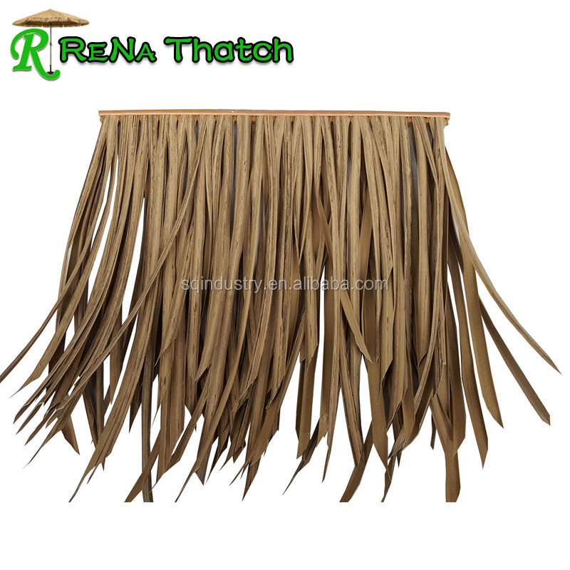 Wind resistant Fireproof synthetic artificial thatch