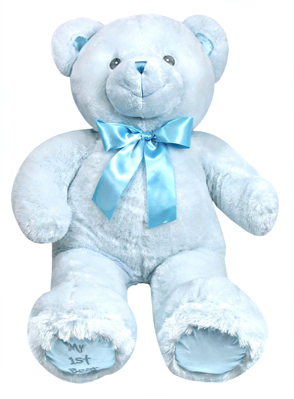 Stephan Baby Ultra Soft and Huggable Plush My First Teddy Bear, Blue