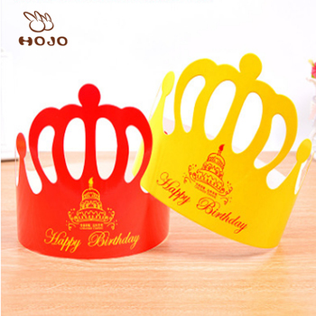 Adults And Kids Happy Birthday Party Decoration Supplies Cake Crown Paper Hat