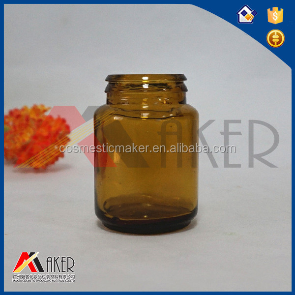 Alibaba supplier LFGB Certificate 12oz 50ml small chemical amber glass bottle with metal cap