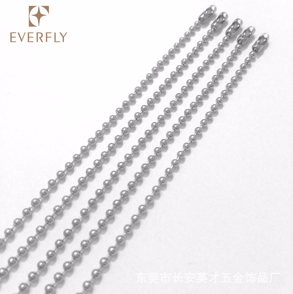 "WHOLESALE LOT 50 100 200 500 1000  BALL CHAIN 2.4mm 18/"" Nickel Plated Best Price"