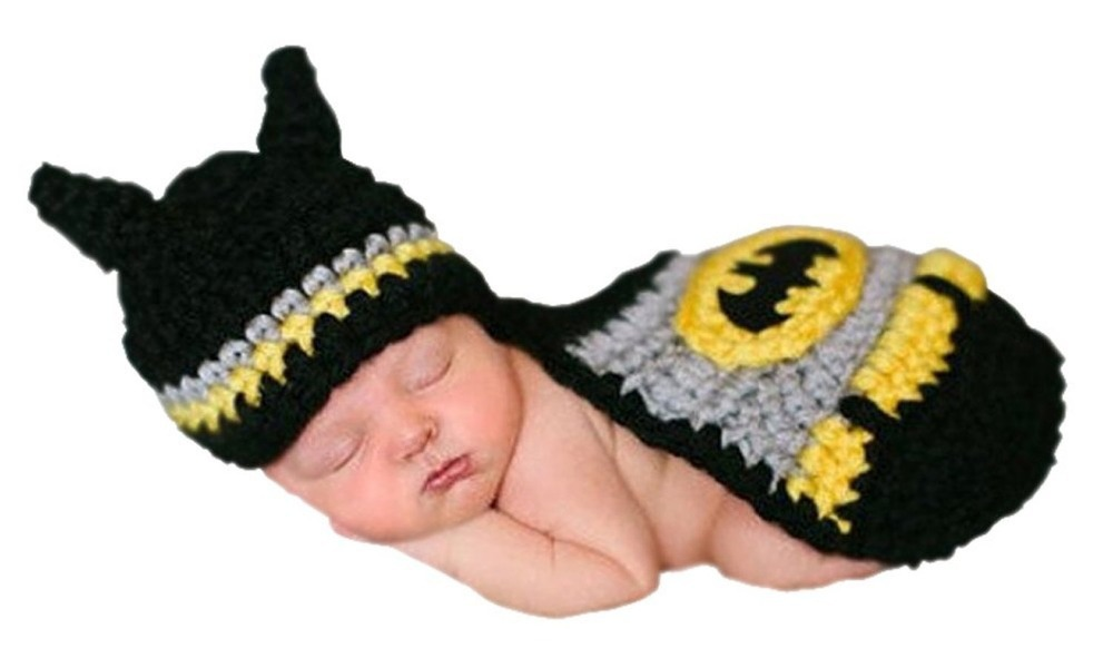 c578614c67f Get Quotations · Batman Baby Handmade Crochet Knit Christmas Photograph Hat  Underwear Set