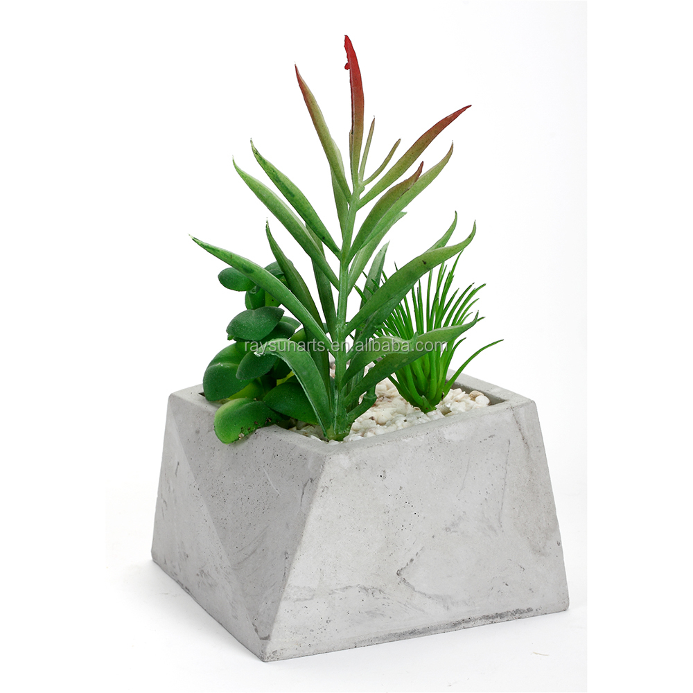 Mini Geometrical Concrete Material Succulent Planter Garden Pot