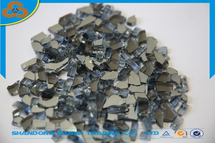 decorative transparent white color recyled broken glass chippings glass  chips rocks for sale