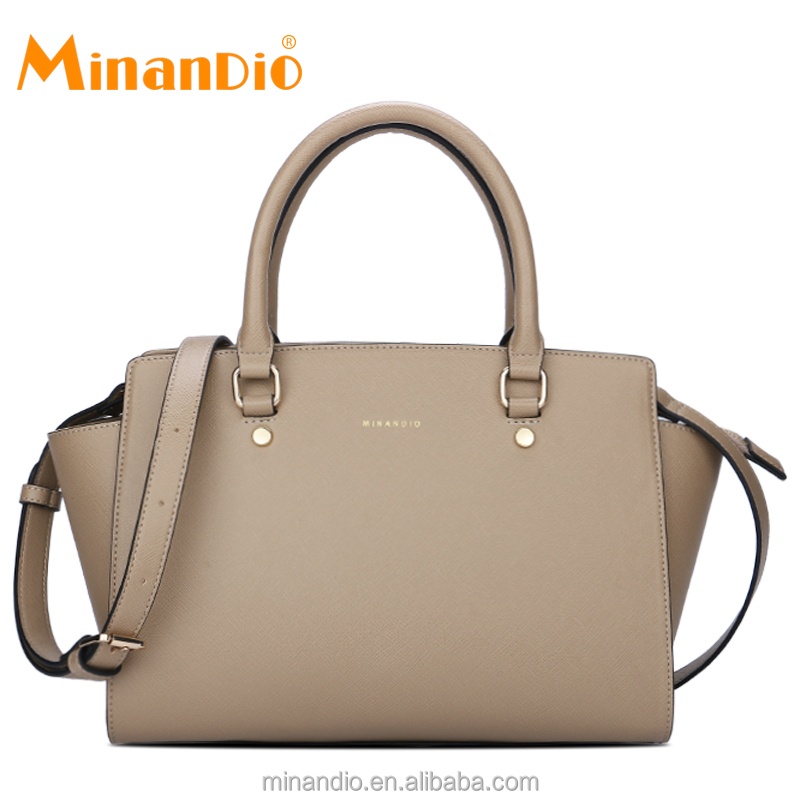 MINANDIO 2018 new design branded ladies cute posh leather saffiano bag
