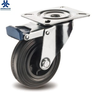 Swivel 4 inch skate wheel casters with brake cheap casters and wheels castor