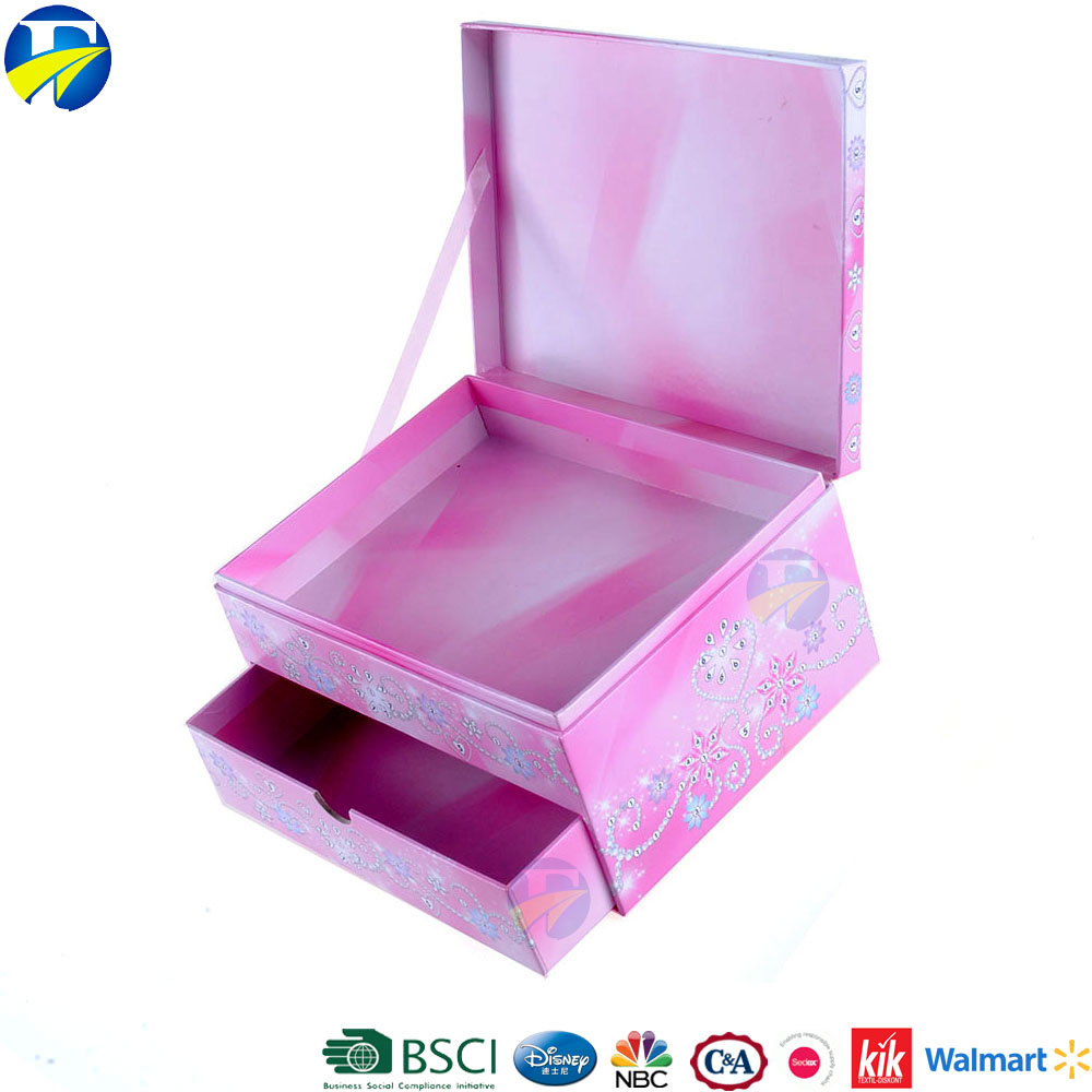 FJ brand wholesale frozen gift drawer box custom logo printed cardboard jewelry boxes
