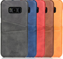 Case For Samsung Galaxy S8 S8 Plus Leather Luxury Wallet Card Slots Soft Back Capa for G950 G955F Business Cover Fundas