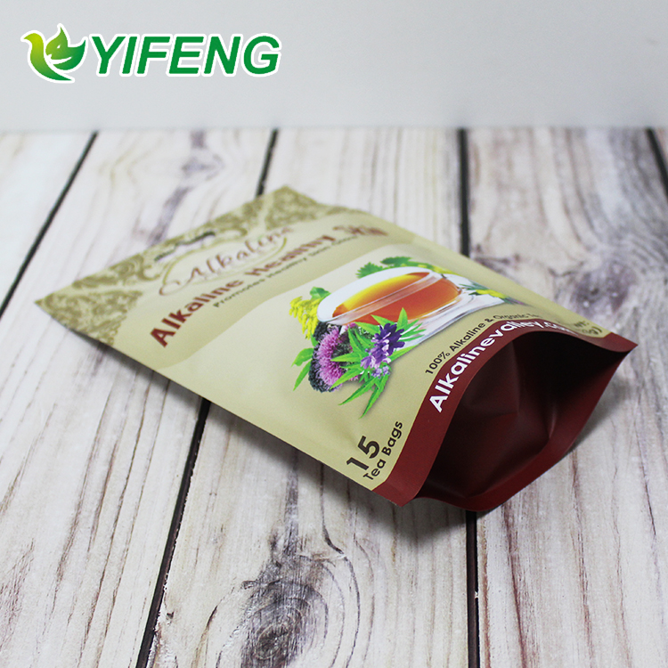 Tea Bag Poly Pineapple Empty Sachet Lavender Matcha Organza Plastic Holder Custom Printed Stand Up Pouch With Zipper