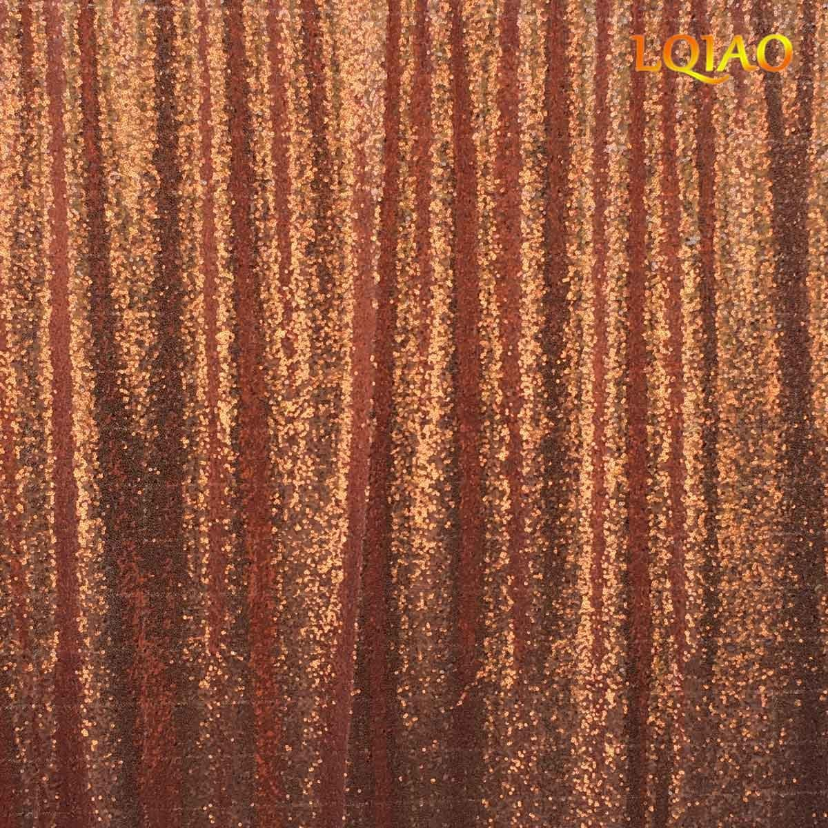 LQIAO 20FTx10FT-600CMx300CM Rose Gold Sequin Backdrops,Party Wedding Photo Booth Backdrop Decoration,Sequin curtains,Drape,Sequin panels