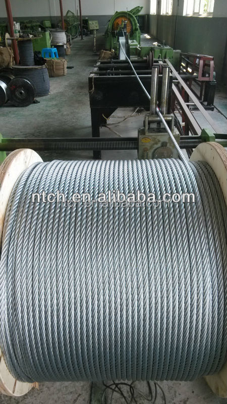 Galvanized Wire Rope 6x37+fc Steel Wire Rope Din3066,6x37+iwr - Buy ...