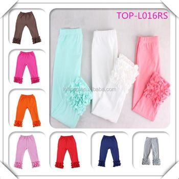 Popular Design Toddlers Leggings Wholesale Icing Pants Ruffle ...