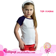 Raglan tee american apparel shirts Cotton white body blanks baby girl raglan baseball short sleeve t-shirts