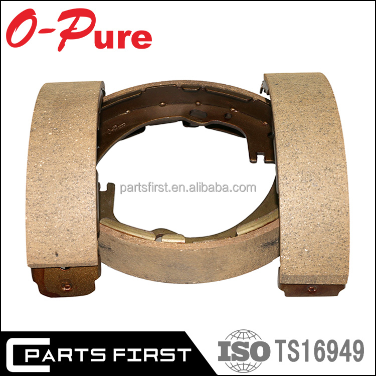 Wholesale high friction automotive relined cast iron brake shoes manufacturers for VW Golf Passat Polo Jetta Bora Tiguan Touareg