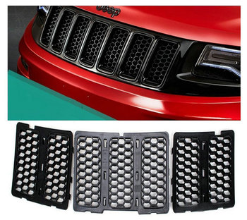 7pcs Honeycomb Matte Mesh Front Grill Grille Inserts Cover Kit For Jeep Grand Cherokee 2017