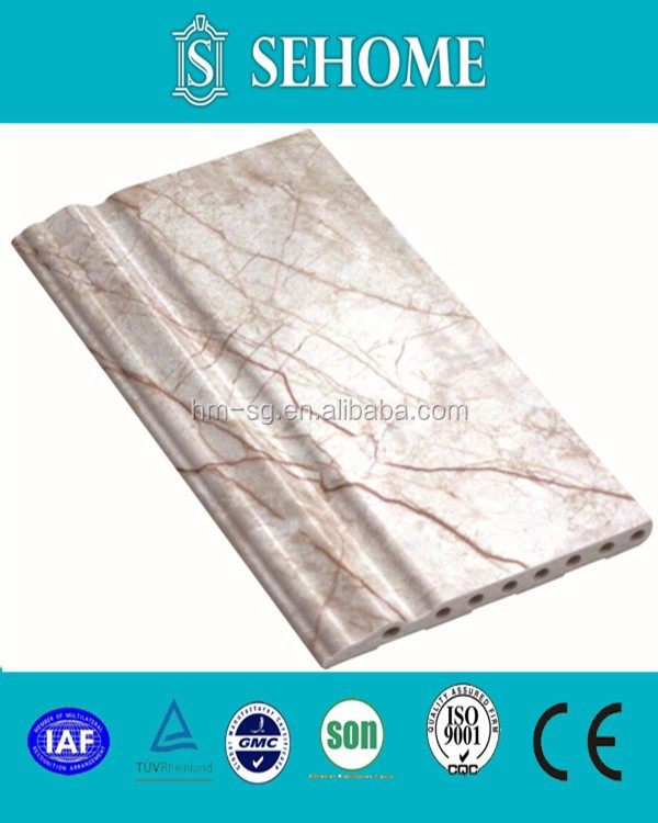 PVC marble skirting line for interior decoration