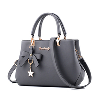2019 big Fashion lady pu luxury genuine leather handbags for women
