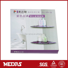 corner floating half round glass mounting shelf kits
