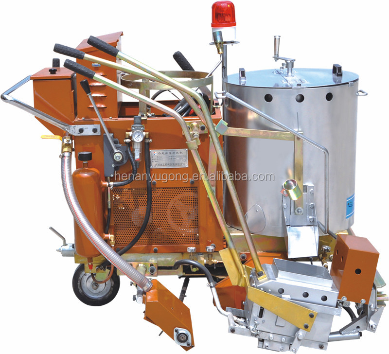 cold spraying and hot melt road zebra line marking paint machine