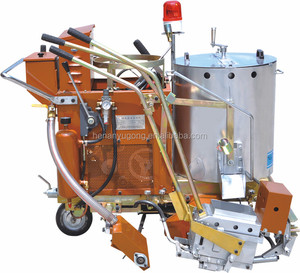 cold spraying and hot melt/thermoplastic road zebra line marking paint machine