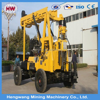 HW HZ-200YY drilling depth 200m portable water well drilling rigs for sale