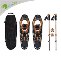 "Custom 14""/21""/25""/27""/30"" Aluminum Snow Shoes / Snowshoes with Trekking Poles For Kids / Men / Women"