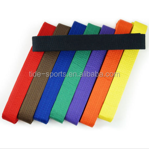 Colorful Taekwondo gi belt judo belt karate belt